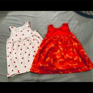 Pair of cute baby dresses- sizes 9-12m